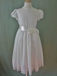 Dotted Swiss First Communion Dress 6ce9ec336