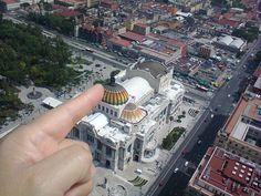 """""""Imaginando que puedo tocar el Palacio de Bellas Artes como si fuese una maqueta, desde el mirador de la Torre Latinoamericana"""", foto 23"""
