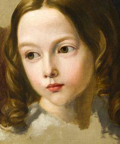 """José de Madrazo y Agudo, """"Retratos de Pedro y Luis de Madrazo"""" (""""Portrait of Pedro y Luis de Madrazo""""), detail"""
