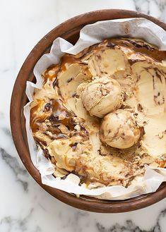 Liquorice ice cream with chocolate