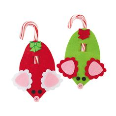 24 Pc. Mouse Candy Cane Craft Kit - OrientalTrading.com