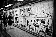Metro in Japan - One piece - manga - Walls