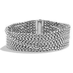 David Yurman Chain Eight-Row Bracelet ($845) ❤ liked on Polyvore featuring jewelry, bracelets, silver, david yurman, david yurman jewellery, chains jewelry, david yurman jewelry and david yurman bangle