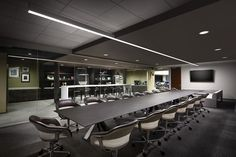 Ekko Conference Table from Davis Furniture in the Rimrock Capital offices - designed by LPA Inc.
