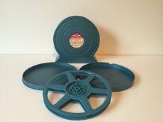 Vintage Yankee Reel & Can Set, Blue Film Reel Set, Movie Reels and Cans, Media Room Decor, Wall Art Movie Reels, Set of Movie Reels by GirlGoesVintage on Etsy