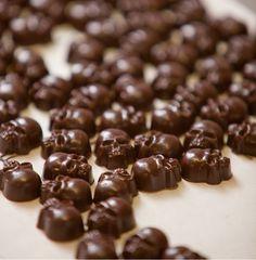 Chocolate skulls by chocolatier Lynda Stern of Bond Street Chocolate