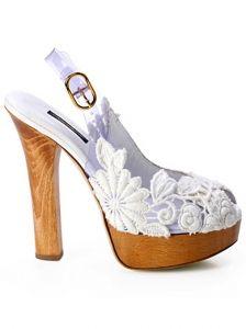 Dolce&Gabbana White Macrame Platforms