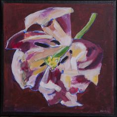 Tulp. 30x30 cm acrylic canvas  Anthony van Gelder Pittore