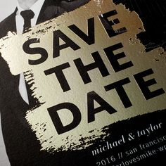 Add a touch of elegance to your save the dates with one of our new foil-stamped designs.