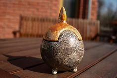 handloved / Urn for pets - orange lister glaze