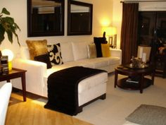 Charming condo living room