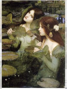 """Pre-Raphaelite Painting: """"Hylas and the Nymphs"""" (Detail), by John William Waterhouse"""