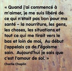 Charlie Chaplin Positive Mind, Positive Vibes, Quote Citation, Charlie Chaplin, French Quotes, My Mood, Positive Affirmations, Self Esteem, Better Life