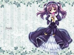 HD Anime Illustrations : Charming Girls Collections - Purple Haired Anime Manga Girls Wallpaper 1600x1200 Images 9