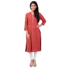 Buy PRAPUN Red Khadi Kurti by Prapun, on Paytm, Price: Rs.1000