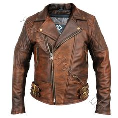 Vintage Brown Classic Retro Leather Jacket