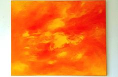 Check out this item in my Etsy shop https://www.etsy.com/listing/261249522/large-abstract-sun-painting-orange