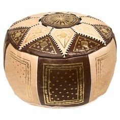 Marrakech Pouf in Brown