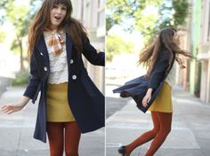 Navy, yellow & rust...my favourite colour combo!