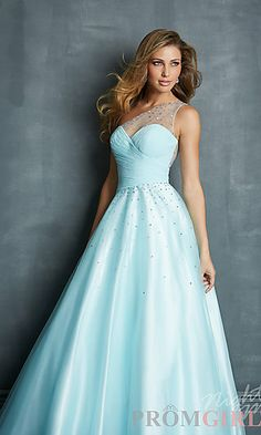 Long One Shoulder Ball Gown at PromGirl.com#prom#dress#promdress