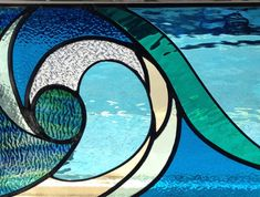 wave, stained glass