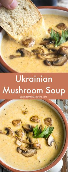 so much comfort in this easy and delicious Ukrainian Mushroom Soup. The There's so much comfort in this easy and delicious Ukrainian Mushroom Soup. -There's so much comfort in this easy and delicious Ukrainian Mushroom Soup. Vegetarian Recipes Easy, Cooking Recipes, Healthy Recipes, Vegetarian Recipes With Mushrooms, Simple Soup Recipes, Cooking Chef, Lunch Recipes, Puree Soup Recipes, Best Soup Recipes