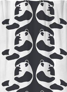 Sivuverho Ajatus 140x250 cm mustavalkoinen Curtains, Shower, Bathroom, Prints, Rain Shower Heads, Washroom, Blinds, Full Bath, Showers