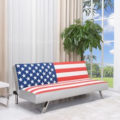 @Overstock - American Flag pattern contemporary futon sofa bed adds comfort and style to your home. Premium fabrics that is durable and easy to maintain. European designed mechanism for easy and reliable conversion between sofa and bed.http://www.overstock.com/Home-Garden/American-Flag-Futon-Sofa-Bed/6743711/product.html?CID=214117 $527.99