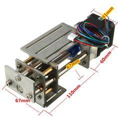 CNC Z Axis Slide Tisch 60mm DIY Fräslinie Linear Motion 3 Achsen Graviermaschine