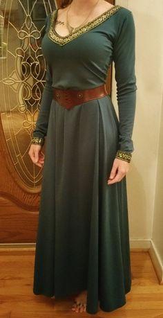 Medieval or renaissance Style princess celtic dress