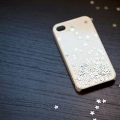 An easy way to dress up a plain iPhone case with small, sparkling stars.