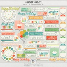 "Another 365 Days | Word Art & Printables by ""Wishing Well Creations by Laura Passage"""