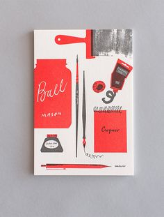Tom Froese: Personal Stationery, print, design, book cover, illustration, type, lettering, texture, tools, composition, two colour, artist
