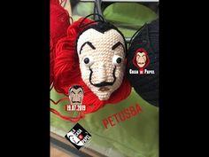 Como tejer overol para muñeco de La Casa de Papel amigurumis by Petus (English subtitles) - Смотреть видео бесплатно онлайн Crochet Videos, Make It Yourself, Panda, Youtube, Etsy, Netflix, Cartoons, Characters, Movies