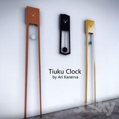 Часы - Tiuku Clock by Ari Kanerva Wood Wall Design, Wall Clock Design, Wooden Wall Art, Crate Furniture, Funky Furniture, Home Decor Furniture, Big Wall Clocks, Wood Clocks, Vinyl Garage Flooring