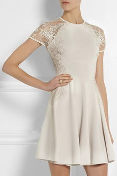 Elie Saab - Lace-trimmed jersey dress from NET-A-PORTER