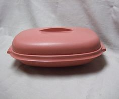 Tupperware Vegetable Steamer Pink Three Pieces by trudysattic