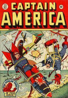 Captain America Comics # 32 by Syd Shores