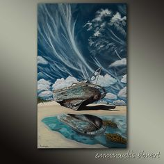 Eternity and a dream-Original art seascape oil painting on canvas by by Blowart on Etsy Back Painting, Painting Edges, Acrylic Paintings, Oil Painting On Canvas, Original Art, Texture, Free Shipping, Artwork, Etsy