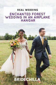 Real Wedding Planning Advice For Bridechillas Enchanted Forest Wedding, Minimalist Wedding Dresses, Gorgeous Wedding Dress, Bold Colors, Airplanes, Wedding Details, Wedding Colors, Philadelphia, Real Weddings