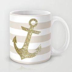 GLITTER ANCHOR IN GOLD Mug by colorstudio