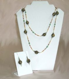 #Red and #Green #Flame #Necklace and #Earrings #jewelry #thecraftstar $28.95