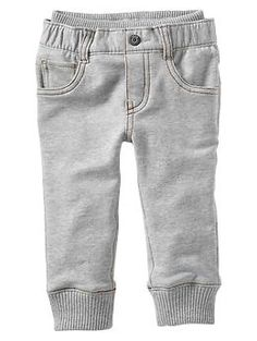 """Knit-waist French terry pants The absolute best """"baby jean"""" there is. I wish they made it in a matching mommy size :)"""