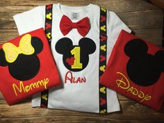Boys first birthday mickey mouse bodysuit by LittleChickiesClips