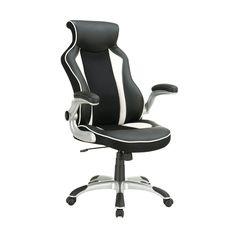 Coaster Company Black/White High Back Office Chair (Black/White)