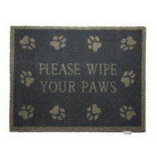 Bosmere Hug Rug Eco-Friendly Absorbent Dirt Trapping Indoor Washable Mat, x Please Wipe Your Paws