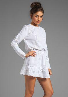 ANINE BING Bohemian Dress in White