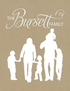 personalized family sillouette