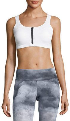 5ef0b6bd1e Nike Zip-Front Medium Support Performance Sports Bra Girl Golf Outfit