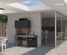 Barbecue Patio Ideas – With the weekend drawing to a close and summer just on the way, getting a barbecue station running might be an idea on the top of your mind. Outdoor Bbq Kitchen, Outdoor Kitchen Design, Patio Design, House Design, Casa Patio, Pergola Patio, Backyard, Design Barbecue, Barbecue Area